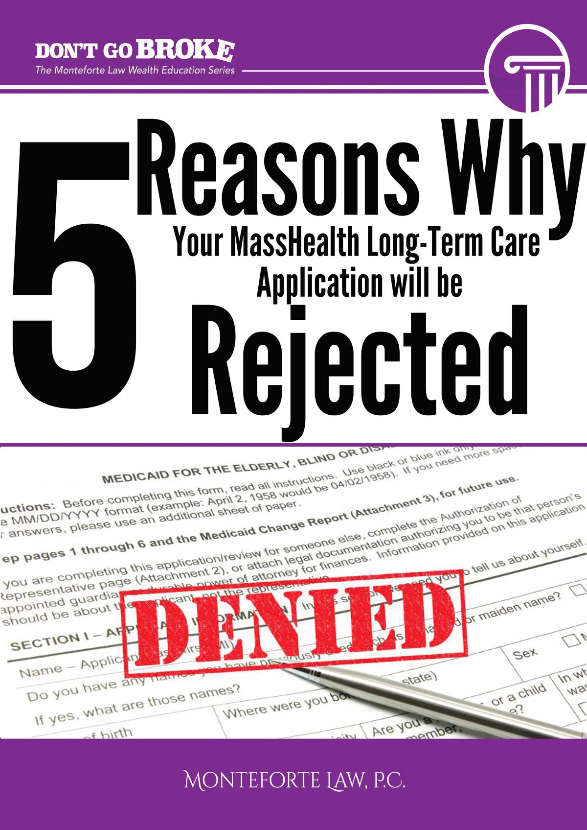 5 Reasons Your MassHealth Application Will Get Denied