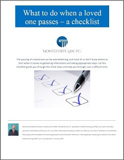 Checklist: What To Do When a Loved One Passes