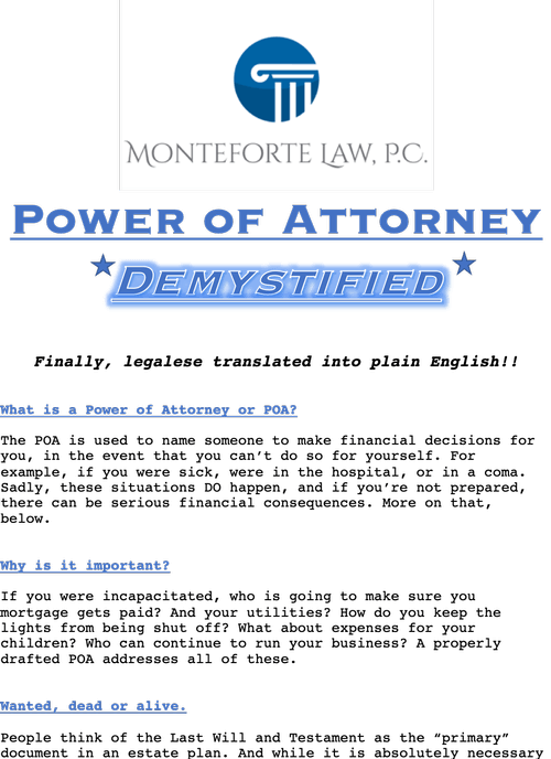 Power of Attorney DeMystified