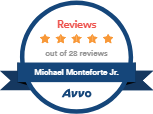 Logo Recognizing Monteforte Law, P.C.'s affiliation with AVVO Five Star Reviews