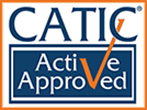 Logo Recognizing Monteforte Law, P.C.'s affiliation with Catic Active Approved