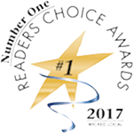 Logo Recognizing Monteforte Law, P.C.'s affiliation with the Readers Choice Awards, 2017
